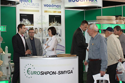PJSC Euroshpon-Smyga participated in the XVII International Exhibition «Woodworking 2014»